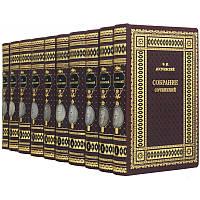Библиотека в 10-ти томах Ф.М.Достоевский книги в коже, фото 1