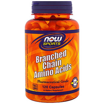 Комплекс Аминокислот с Разветвлёнными Цепями, Branched Chain Amino Acids, Now Foods, 120 капсул