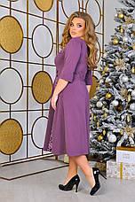 Шикарне осіннє плаття великого розміру, фото 3