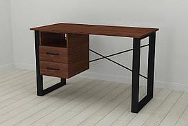 Письмовий стіл з ящиками Ferrum-decor Оскар 750x1200x600 метал Чорний ДСП Венге 16 мм (OSK0003)