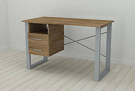 Письменный стол с ящиками Ferrum-decor Оскар  750x1400x600 металл Серый ДСП Дуб Таверна 16 мм (OSK0041)