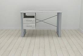 Письмовий стіл з ящиками Ferrum-decor Оскар 750x1400x600 метал Сірий ДСП Урбан Лайт 16 мм (OSK0042)