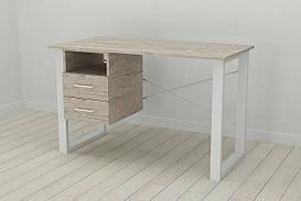 Письменный стол с ящиками Ferrum-decor Оскар  750x1200x700 металл Белый ДСП Шервуд 16 мм (OSK0051)
