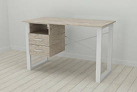 Письмовий стіл з ящиками Ferrum-decor Оскар 750x1200x700 метал Білий ДСП Шервуд 16 мм (OSK0051)