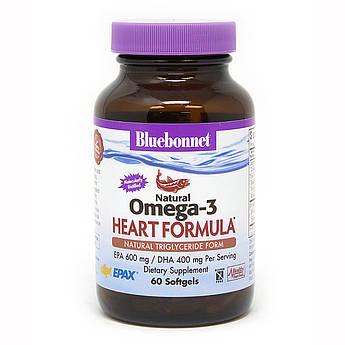 Омега-3 Формула для Серця, Bluebonnet Nutrition, Omega-3 Heart Formula, 60 желатинових капсул