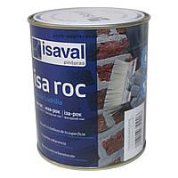 Лак для камня фасадный гидроизоляционный «мокрый камень» Иза-Рок 0,75л ISAVAL