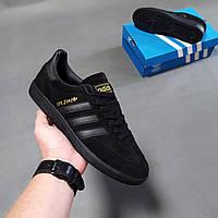 Мужские кроссовки Adidas Originals Spezial черные с полосами Адидас оригинал