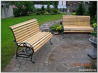 Кованные скамейка