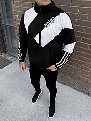 Мужская ветровка Palm Angels (черно-белая) стильная куртка на осень sw25