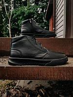 Чоловічі зимові шкіряні черевики на хутрі/байку, чорні, розмір 40-45. Дуже теплі!, фото 1