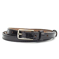Ремень кожаный женский лаковый узкий PS-1542 (125 см)