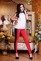 Женские красные лосины с кружевом + большой размер