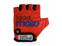 Перчатки детские Kiddi Moto красные, размер М на возраст 4-7 лет