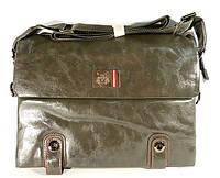 Сумка мужская большая через плечо серая Fashion 6993-3