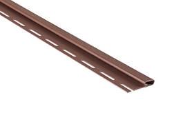 Профіль J-трим для сайдінга червоно-коричневий Альта 3,66 м