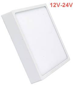 Светодиодный светильник накладной Slim SL24 24W 12-24V 4000K квадратный белый IP20 Код.59835