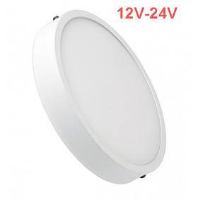 Светодиодный cветильник накладной Slim SL24 24W 12-24V 4000K круг белый IP20 Код.59836