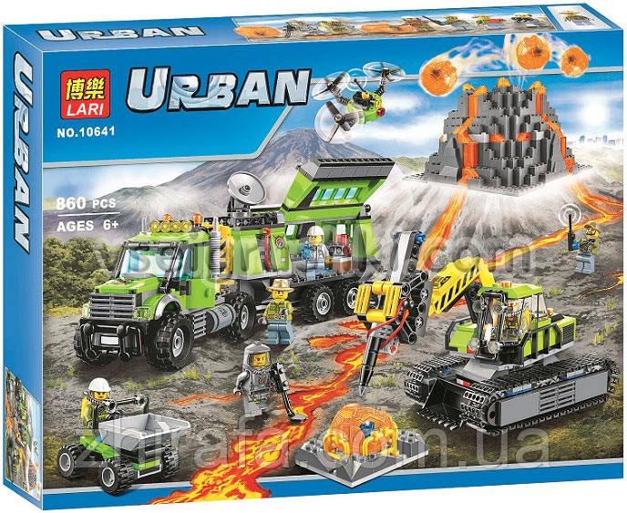 """Конструктор Bela Urban лего База дослідників вулканів"""", 860 деталей"""