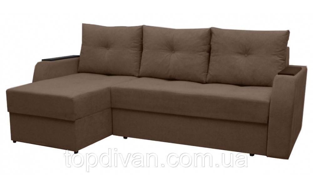 """Угловой диван """"Лион"""". (угол взаимозаменяемый) Аляска 03"""