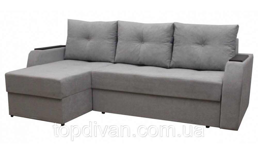 """Кутовий диван """"Ліон"""". (кут взаємозамінний) Аляска 08"""