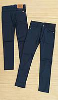 Шкільні штани котонові підліток для хлопчика 13-16 років,колір синій
