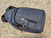 Удобная мужская сумка кросс боди текстиль Puos