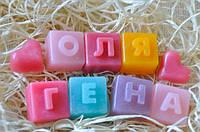 Декоративное мыло Имя с трех букв