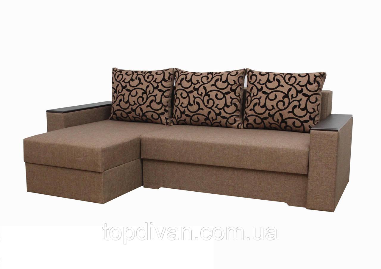 """Кутовий диван """"Ліон 2"""". (кут взаємозамінний) тканина 1"""