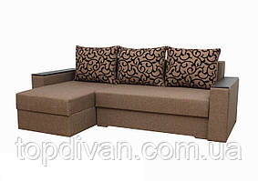 """Угловой диван """"Лион 2"""". (угол взаимозаменяемый)  ткань 1"""