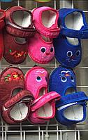 Детские тапочки оптом малиновые зайки
