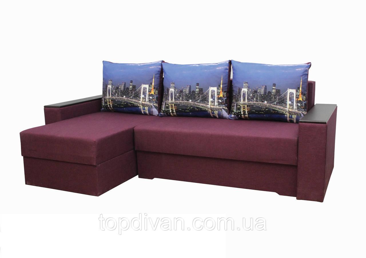 """Кутовий диван """"Ліон 2"""". (кут взаємозамінний) тканина 3"""