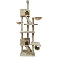 Великий ігровий комплекс для кішок Avko 240 см кігтеточка, будиночок, дряпка