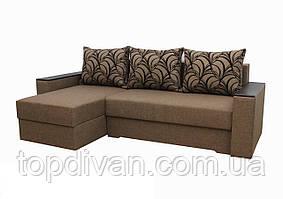 """Угловой диван """"Лион 2"""". (угол взаимозаменяемый)  ткань 4"""