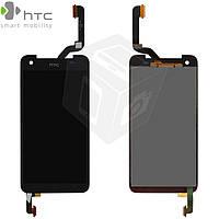 Дисплейный модуль (дисплей + сенсор) для HTC Butterfly X920e, черный, оригинал