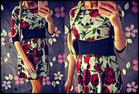 Женское красивое платье с розами, фото 1