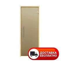Двери для сауны Tesli Steel Sateen 1900*700 (матовые) усиленные