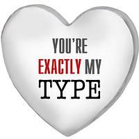 Подушка сердце 3D Ты точно в моем вкусе