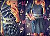 Женское красивое платье с украшением (расцветки)