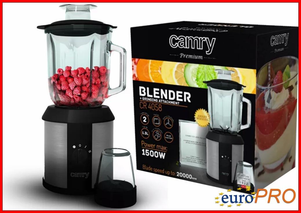 Блендер с кофемолкой Camry CR 4058 2в1 - Стекло, 1500 Вт