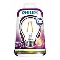 LED лампа Philips Fila 4.3W 3000К E27 филаментная!