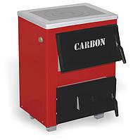 Котел твердотопливный Carbon КСТО-10 с плитой. Котлы на твердом топливе.