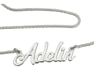 Серебряный именное колье Adelin (с цепочкой) 928-000
