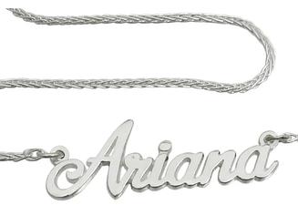Серебряный именное колье Ariana 926-000