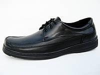 """Туфли мужские кожаные """"Массовка- шнурок -1"""""""