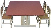 Стол детский регулируемый КИНД ЮНИОР С 106 (90 х 90 см, береза)