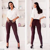 Облягаючі штани стильні замшеві з замша на дайвінг , середня посадка великих розмірів 48-58 арт. 259, фото 1