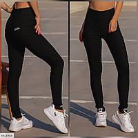 Джеггінси жіночі джинсові спідниці-штани чорні облягаючі зручні великих розмірів р-ри 48-52 арт. 208