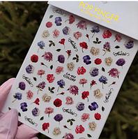 Наклейки для ногтей цветы F666 Nail Stikers