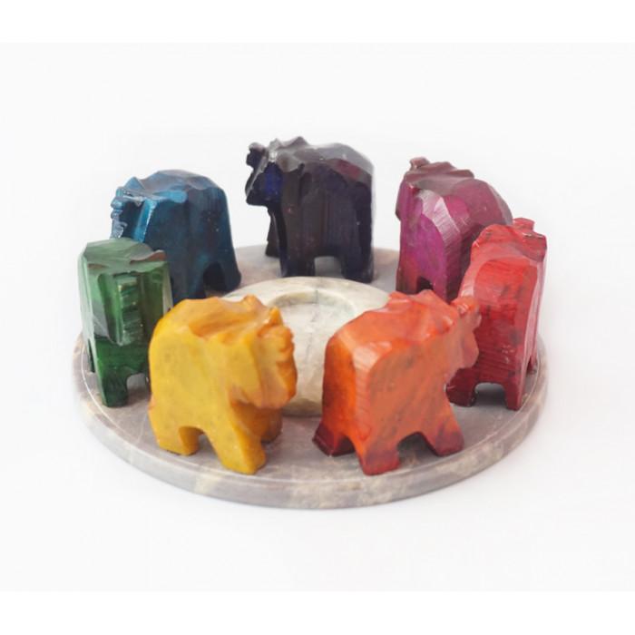 """Підставка для пахощів """"Сім слонів"""""""
