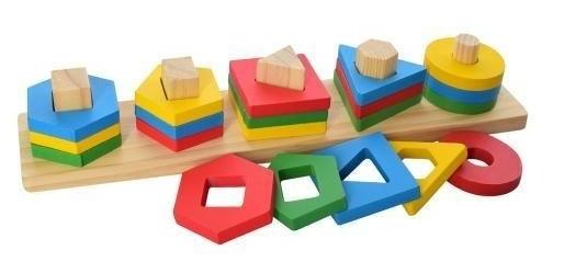"Деревянная игрушка "" Геометрика "" MD 2305, в коробке, 20 фигур"